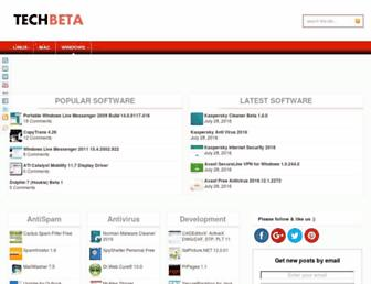 Main page screenshot of techbeta.org