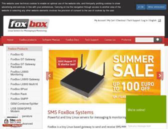 smsfoxbox.it screenshot