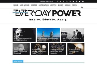 everydaypowerblog.com screenshot