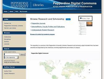 digitalcommons.pepperdine.edu screenshot