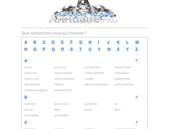 Main page screenshot of annuaire.pro