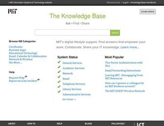 kb.mit.edu screenshot