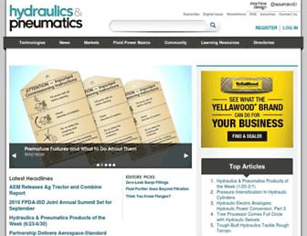 hydraulicspneumatics.com screenshot