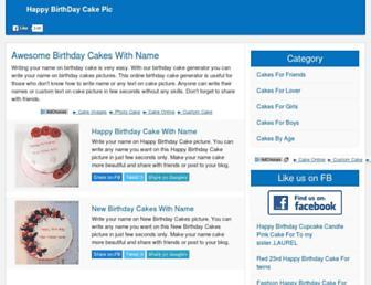 happybirthdaycakepic.com screenshot