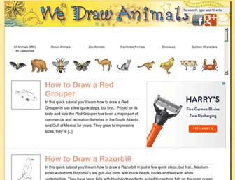 wedrawanimals.com screenshot