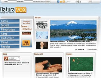 Main page screenshot of naturavox.fr