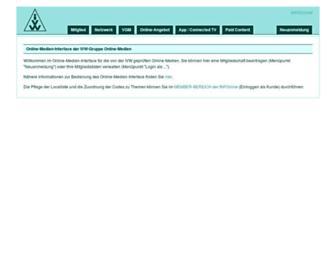Main page screenshot of ivw-online.de