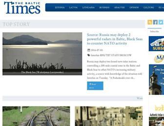 baltictimes.com screenshot