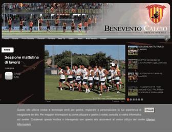 Thumbshot of Beneventocalciospa.it
