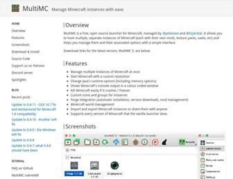 multimc.org screenshot