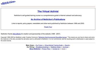 netaction.org screenshot
