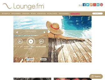 Main page screenshot of lounge.fm