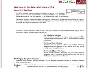 us.thesalarycalculator.co.uk screenshot