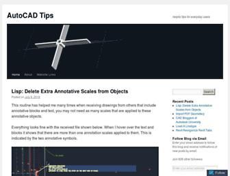 autocadtips1.com screenshot