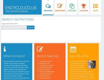 Thumbshot of Encyclo.co.uk