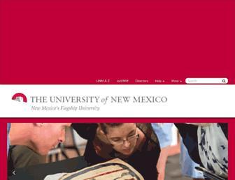 Main page screenshot of unm.edu