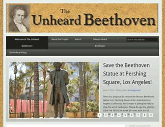 unheardbeethoven.org screenshot