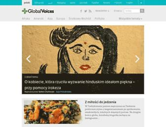 Main page screenshot of pl.globalvoicesonline.org