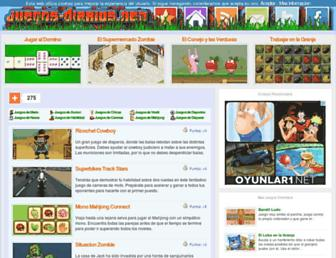 Main page screenshot of juegos-diarios.net
