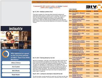 Main page screenshot of divxsubtitles.net