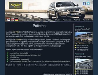 Main page screenshot of yutim.rs