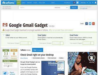 google-gmail-gadget.en.softonic.com screenshot