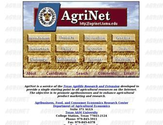 Main page screenshot of agrinet.tamu.edu
