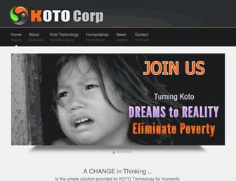 kotocorp.com screenshot