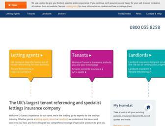 homelet.co.uk screenshot