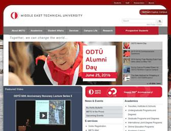 Main page screenshot of metu.edu.tr
