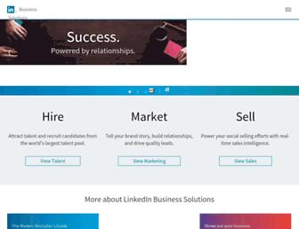 business.linkedin.com screenshot