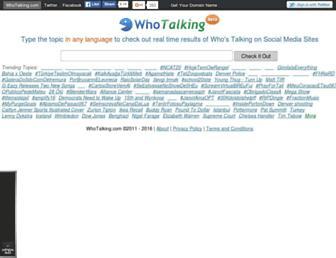 Thumbshot of Whotalking.com