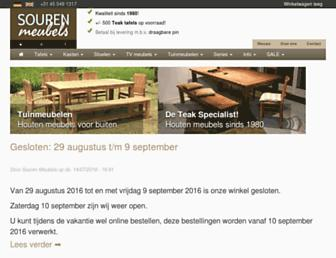 Main page screenshot of sourenmeubels.nl
