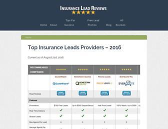 insuranceleadreviews.com screenshot