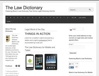 Screenshot for thelawdictionary.org