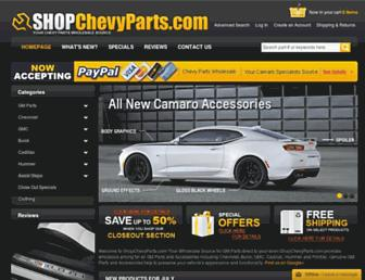shopchevyparts.com screenshot