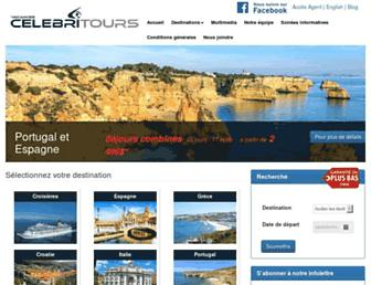 celebritours.com screenshot