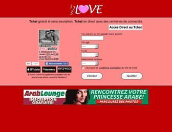 tchat.123love.fr screenshot