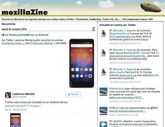 Main page screenshot of mozillazine-fr.org