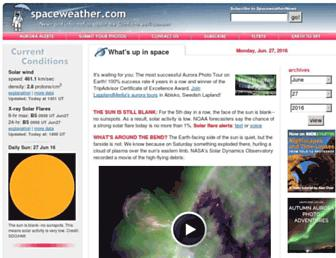 Thumbshot of Spaceweather.com