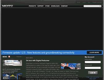 motu.com screenshot