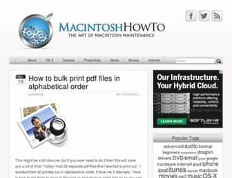 macintoshhowto.com screenshot
