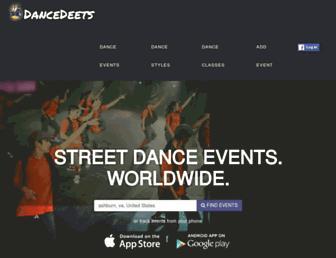 dancedeets.com screenshot