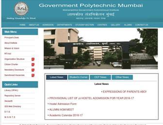 gpmumbai.ac.in screenshot