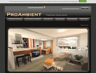 Main page screenshot of mak-design.si