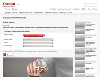 support-in.canon-asia.com screenshot