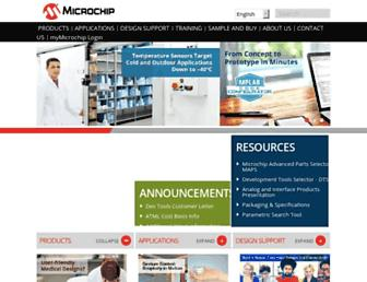 microchip.com screenshot