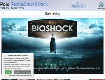 Main page screenshot of gamesblog.it