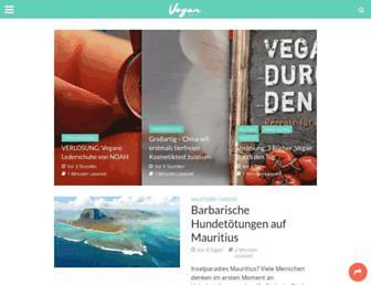 Main page screenshot of veganblog.de