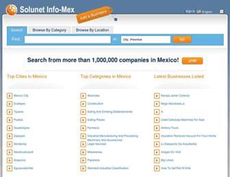 Thumbshot of Solunet-infomex.com